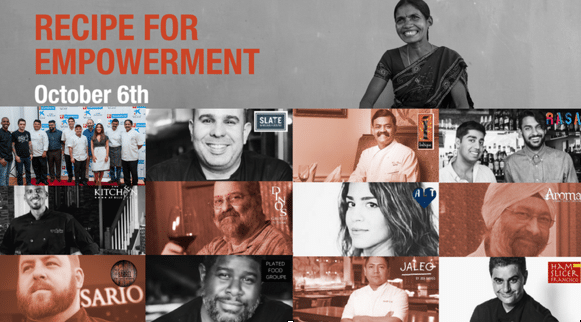 'Recipe For Empowerment' on October 6th in Washington D.C. Empowers Communities in Rural India.